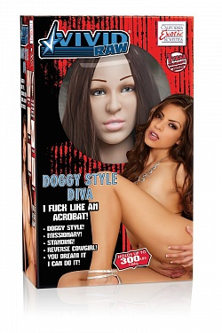 Реалистичная секс-кукла Vivid Raw Doggy Style Diva Love Doll  California Exotic Novelties SE-7531-20-3 с доставкой