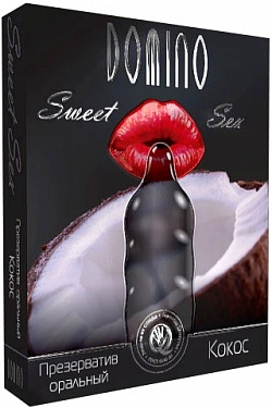 Презерватив DOMINO Sweet Sex  Кокос  - 1 шт. Domino DOMINO Sweet Sex  Кокос  №1 с доставкой