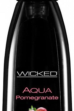 Лубрикант с ароматом граната Wicked Aqua Pomegranate - 60 мл. Wicked 90302 с доставкой