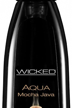 Лубрикант с ароматом кофе мокко Wicked Aqua Mocha Java - 60 мл. Wicked 90312 с доставкой