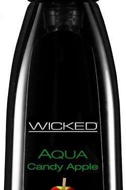 Лубрикант с ароматом сахарного яблока Wicked Aqua Candy Apple - 60 мл. Wicked 90402 с доставкой